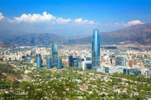 scenic view of Santiago, Chile